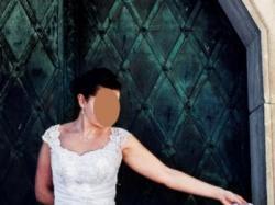 Śliczna, lekka, biała suknia ślubna. Stan idealny