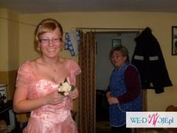 Śliczna łosoiowa suknia :) rozm.40