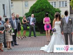 Śliczna niepowtarzalna suknia śluba prosto z Warszawy rozm 36-38
