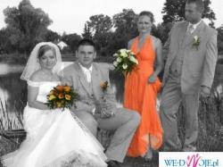 Śliczna oryginalna suknia ślubna, zachwyci wszystkich gości