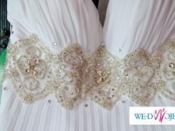 śliczna , plisowana suknia ślubna (najnowszy model)