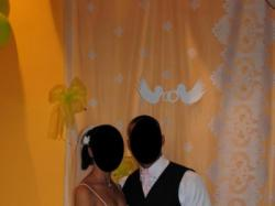 Śliczna prosta suknia ślubna