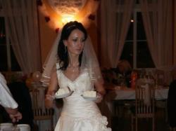 Śliczna, skromna i delikatna suknia ślubna. TANIO-700 ZŁ
