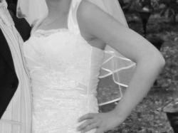 Śliczna skromna suknia ślubna