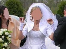 Śliczna , subtelna suknia ślubna