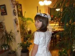 śliczna sukienka komunijna z salonu ślubno-komunijnego