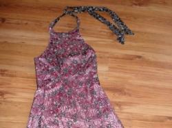 śliczna sukienka satyna + koronka