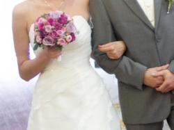 Śliczna sukienka ślubna!!! Delikatna i subtelna.