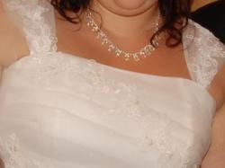 Śliczna sukienka ślubna dla puszystej :))