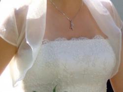 Śliczna sukienka ślubna ecru AGNES 1730