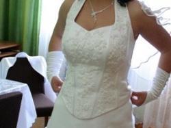 śliczna sukienka ślubna śnieznobiała za 600 zł- do negocjacji