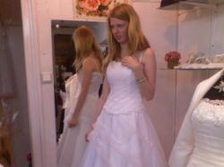 śliczna sukinia ślubna