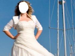 Śliczna suknia ecru 42 44 Gratisy