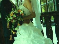 śliczna  suknia ślubna 175 cm, rozmiar 38-40 Emmi Mariage stan idealny