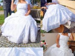Śliczna suknia ślubna 176 r. 42-44-46