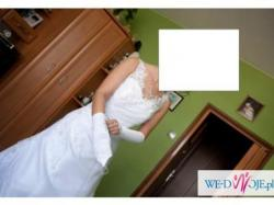 śliczna suknia ślubna 36/38 rękawiczki i welon gratis