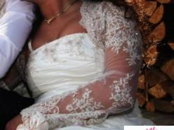 Śliczna suknia ślubna 38/40 + gratisy