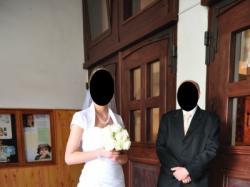 Śliczna Suknia Ślubna biała rozm. 36