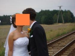 śliczna suknia ślubna, biała, rozm 38-40