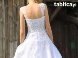 Śliczna suknia ślubna+bolerko