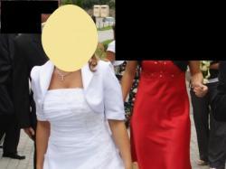 Śliczna suknia ślubna + bolerko