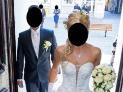 Śliczna suknia ślubna cyrkonie swarovski