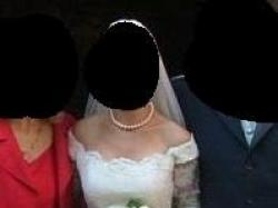 Śliczna suknia ślubna dla Pań z dużym biustem