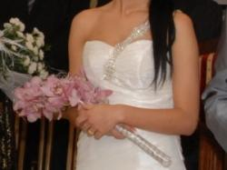 Śliczna suknia ślubna ecru + bolerko gratis! rozmiar 36