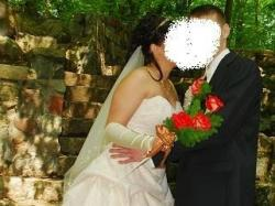 Śliczna suknia ślubna ecru za małe pieniądze!