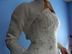 Śliczna suknia ślubna ECRU_klasyczna