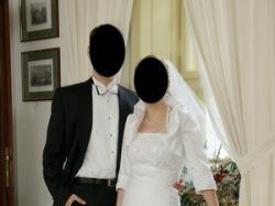 Śliczna suknia ślubna jednoczęściowa