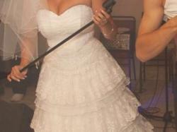 Śliczna suknia ślubna KORONKA