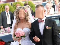 Śliczna suknia ślubna krótka