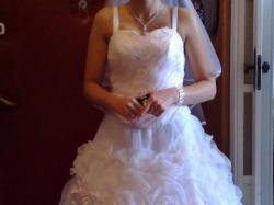 Śliczna suknia ślubna M-L, biała, OKAZJA!!!