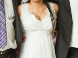Śliczna suknia ślubna, może być ciążowa