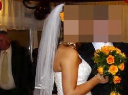 Śliczna suknia ślubna pilne