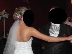 śliczna suknia ślubna r. 36