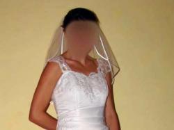 Śliczna suknia ślubna rozm.38 w kształcie lit. A+GRATIS!