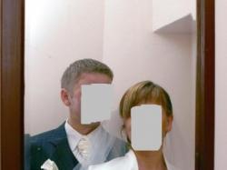 Śliczna suknia ślubna rozm.42