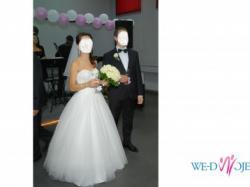 śliczna suknia ślubna, rozmiar 34-36