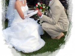 śliczna suknia ślubna rozmiar 36-38