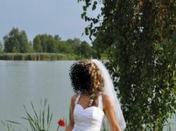 """Śliczna suknia ślubna """"rybka"""" w stylu FLAMENCO"""