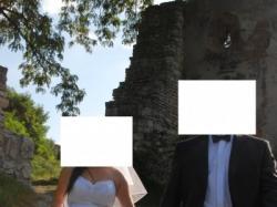 Śliczna suknia ślubna Svarowski-rozmiar 38!!!