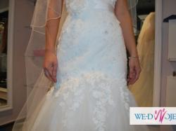 Śliczna suknia ślubna Sweethearth - rozmiar 8