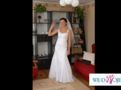Śliczna suknia ślubna szyta na wzór Pronovias Oleaje