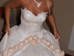 Śliczna Suknia Ślubna Tanio:)