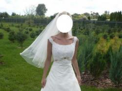 Śliczna suknia ślubna w kolorze ivory, rozmiar 34!