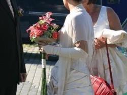 Śliczna suknia ślubna w kolorze TOFFI rozmiar 38/40