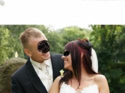 Śliczna suknia ślubna w kolorze wanilii