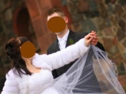 sliczna suknie ślubna+  bolerko